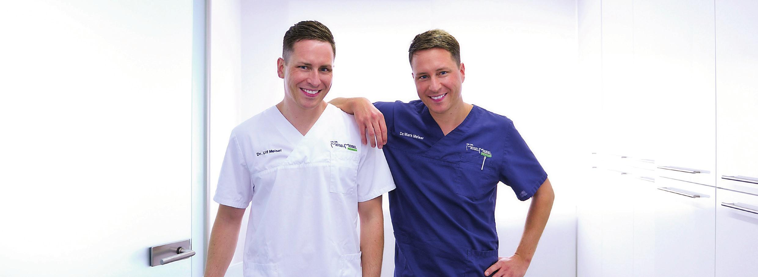 """Die zertifizierten Implantologen Dr. Ulf Meisel (links) und Dr. Mark Meisel machen in ihrer Praxis in Nürnberg beste Erfahrungen mit dem Werkstoff """"Keramik""""."""