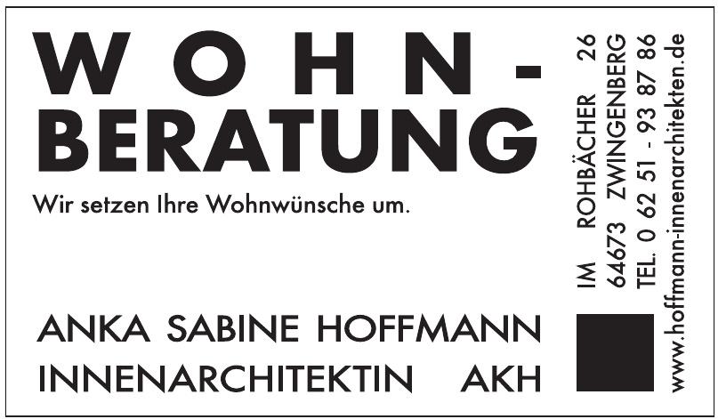 Anka Sabine Hoffmann Innenarchitektin AKH