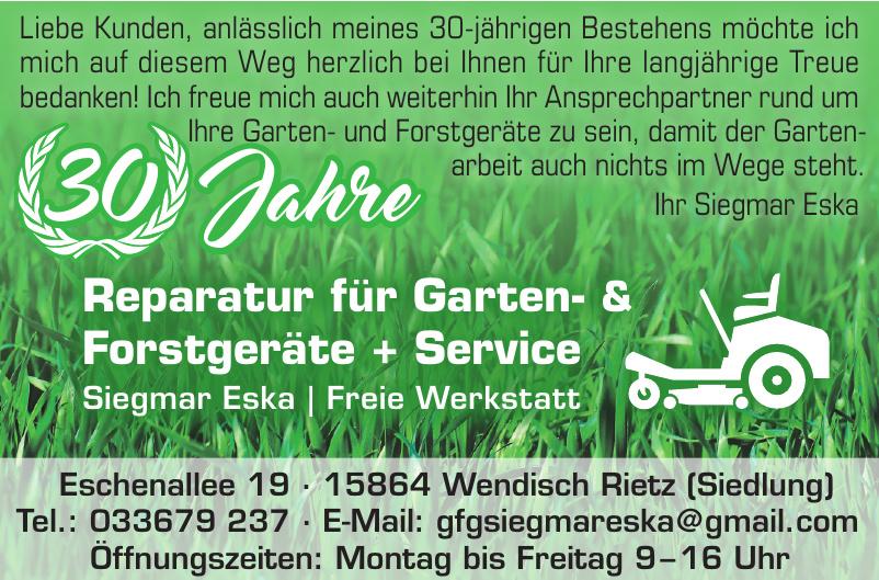 Reparatur für Garten- & Forstgeräte + Service Siegmar Eska