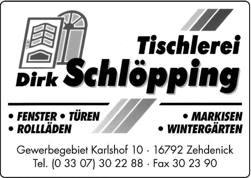 Tischlerei Dirk Schlöpping