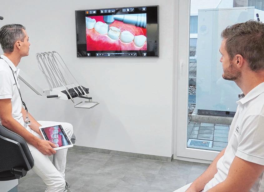 Am Monitor können die Ärzte ihren Patienten die notwendigen Behandlungsschritte veranschaulichen. BS