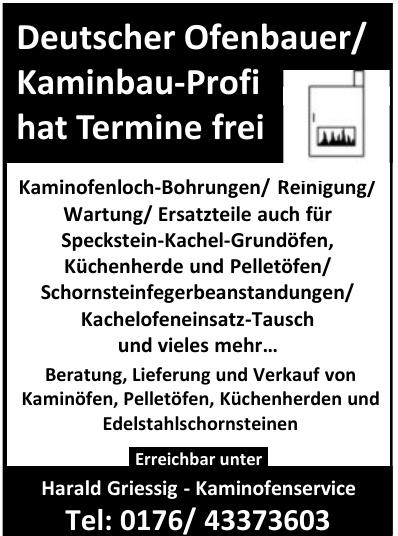 Harald Griessig - Kaminofenservice