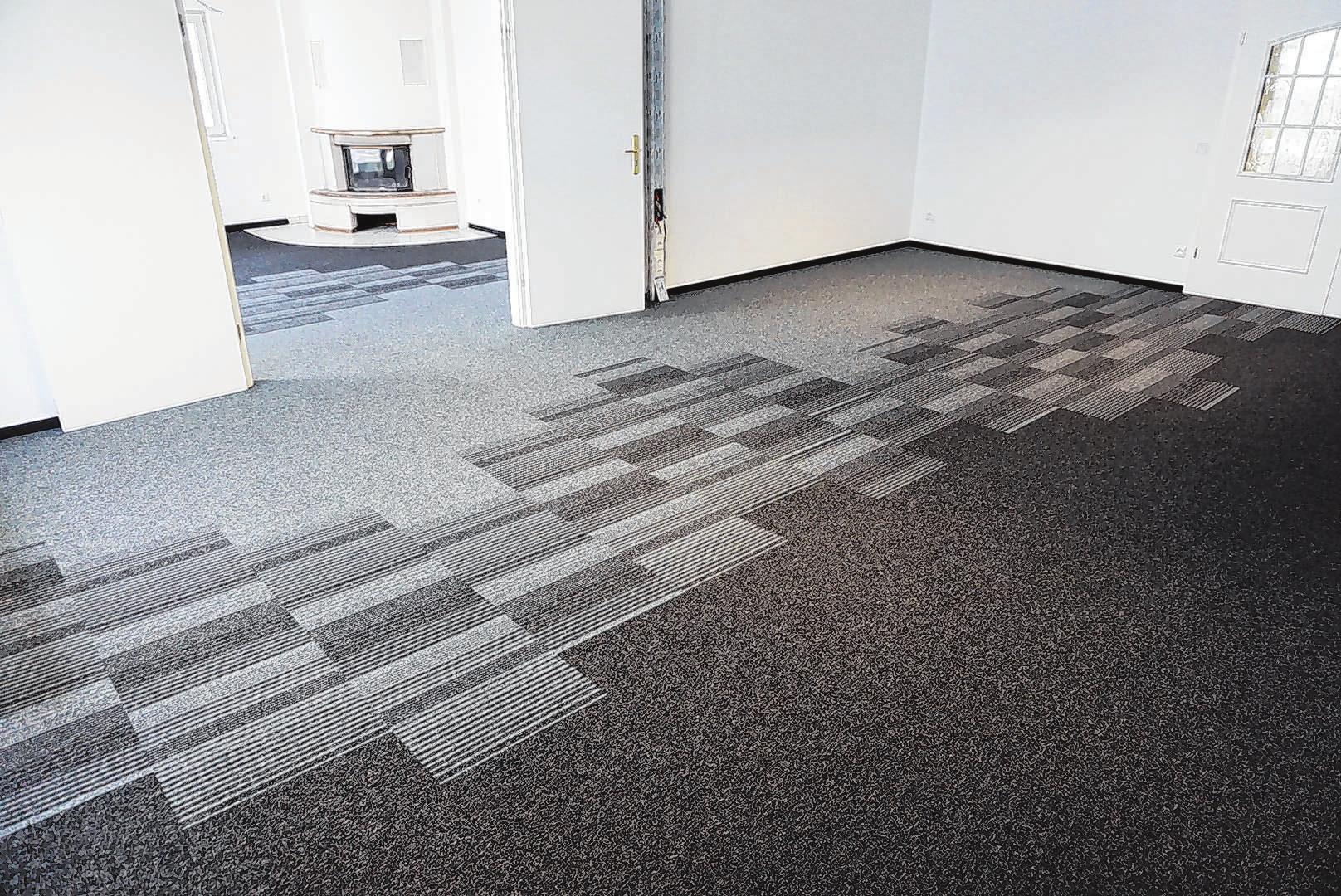Referenzobjekt: Kreative Teppichverlegung in Gewerberäumen. Foto: Jens Krüger