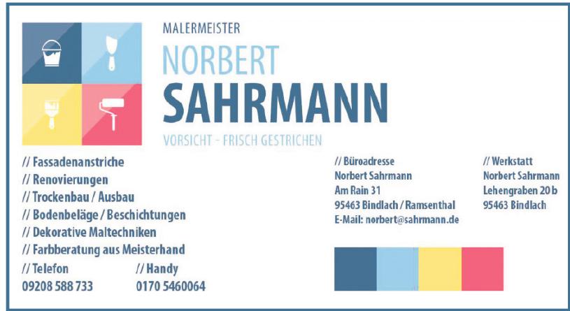 Malermeister Norbert Sahrmann