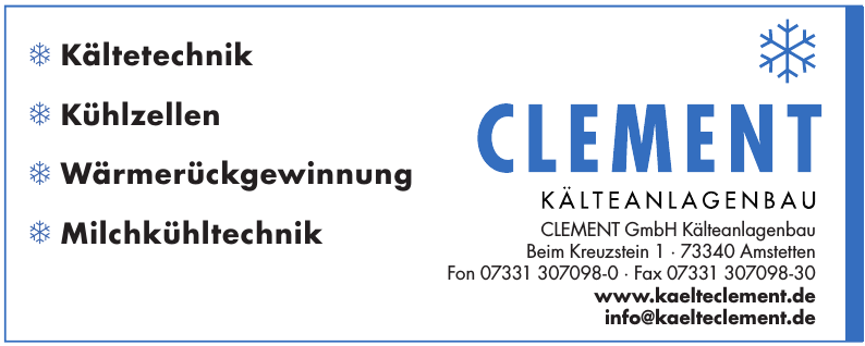 Clement GmbH Kälteanlagenbau