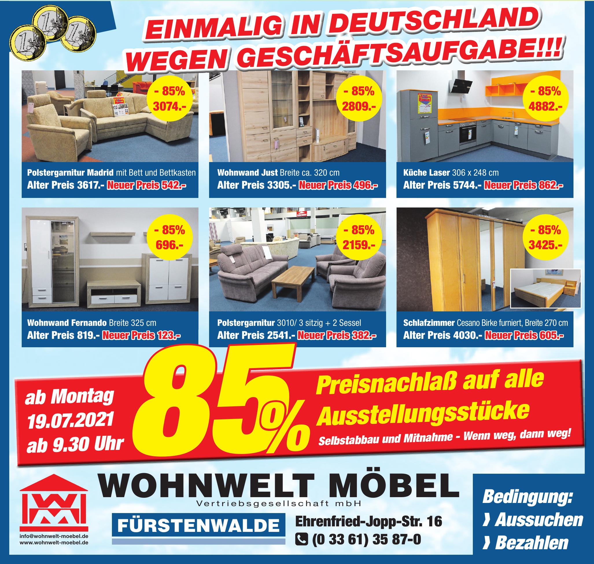 Wohnwelt Möbel Vertriebsgesellschaft mbH