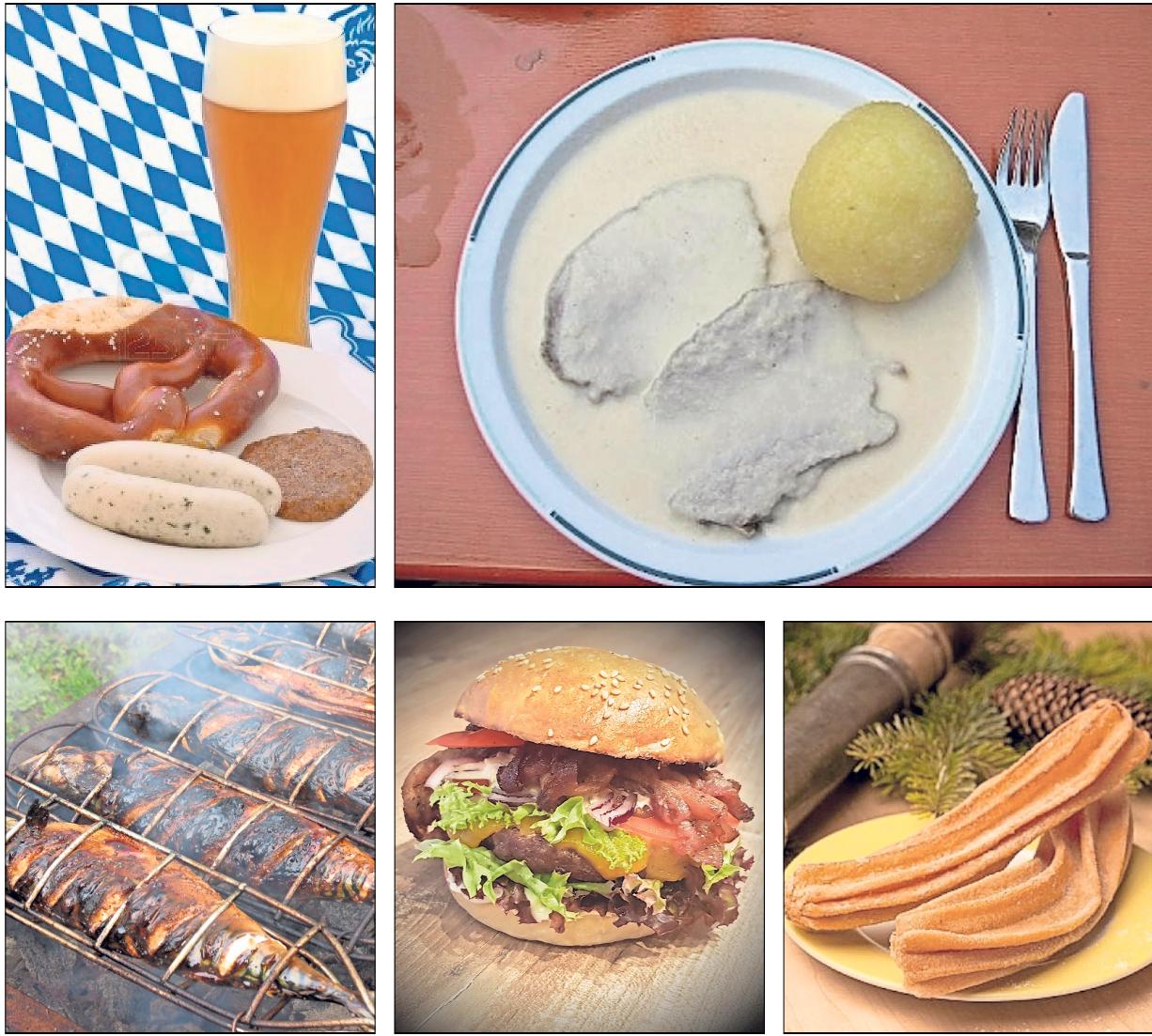 etwas dabei: Vom Weißwurstfrühschoppen über Krenfleisch, gegrillte Makrelen und selbst gemachte Burger bis hin zu frischen Spritzkuchen.
