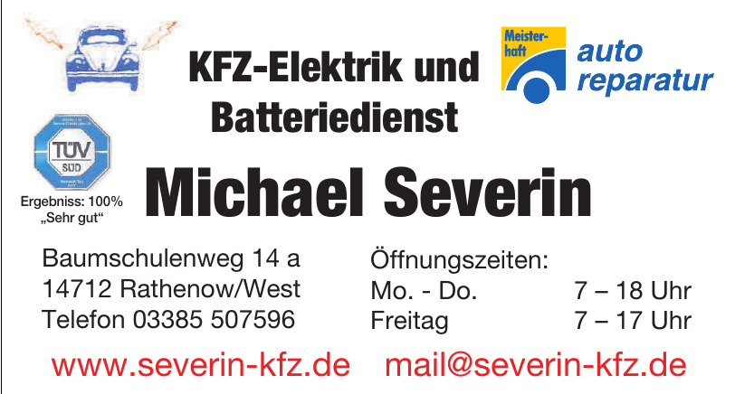KFZ-Elektrik & Batteriedienst Michael Severin