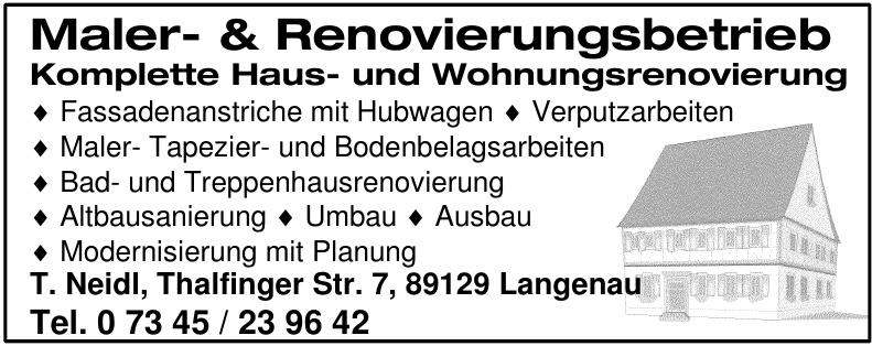 Maler- & Renovierungsbetrieb Komplette Haus- und Wohnungsrenovierung