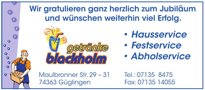 Getränke Blackholm