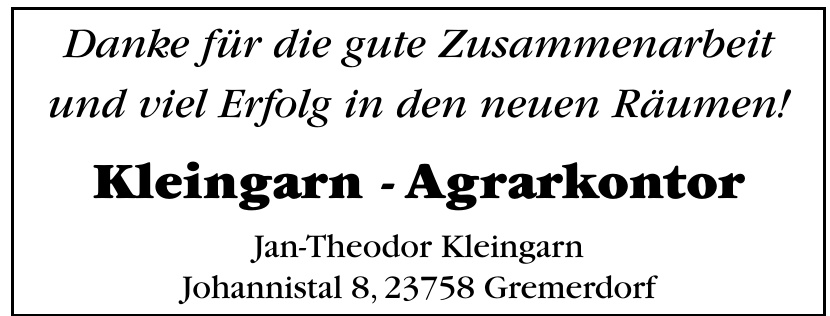 Kleingarten - Agrarkontor