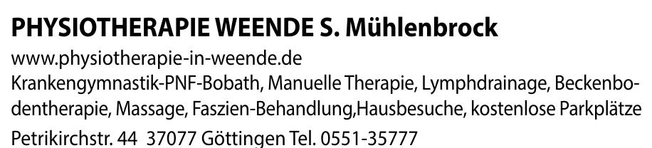 Physiotherapie Weende S. Mühlenbrock