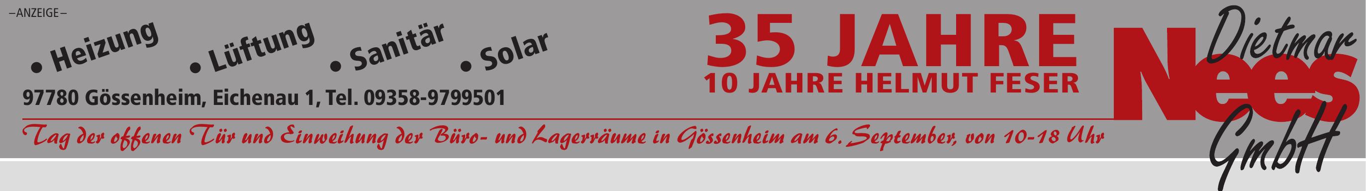 35 Jahre Dietmar Nees GmbH und 10 Jahre Helmut Feser Image 1