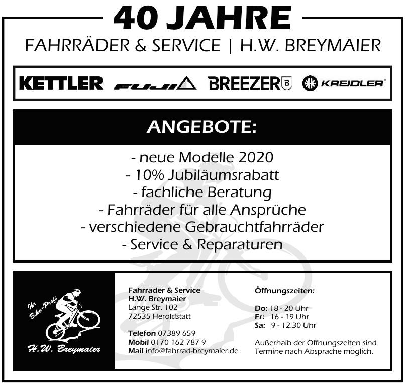 Fahrräder & Service H.W. Breymaier