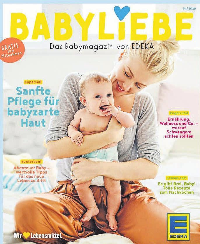 """Das neue Magazin """"Babyliebe"""" erscheint in einer Auflage von einer Million Stück und liegt ab sofort kostenlos in den EDEKA-Ladage-Frischemärkten aus."""