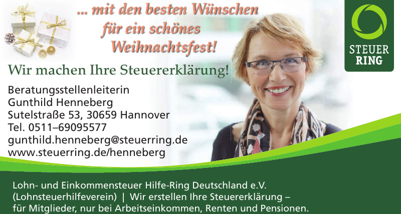 Steuer Ring-Gunthild Henneberg Beratungsstellenleiterin