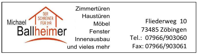 Michael Ballheimer - Zimmertüren
