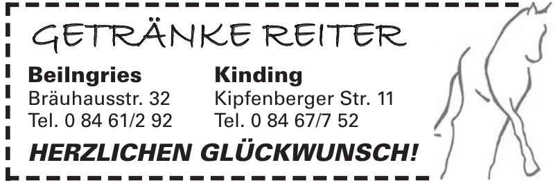 Getränke Reiter