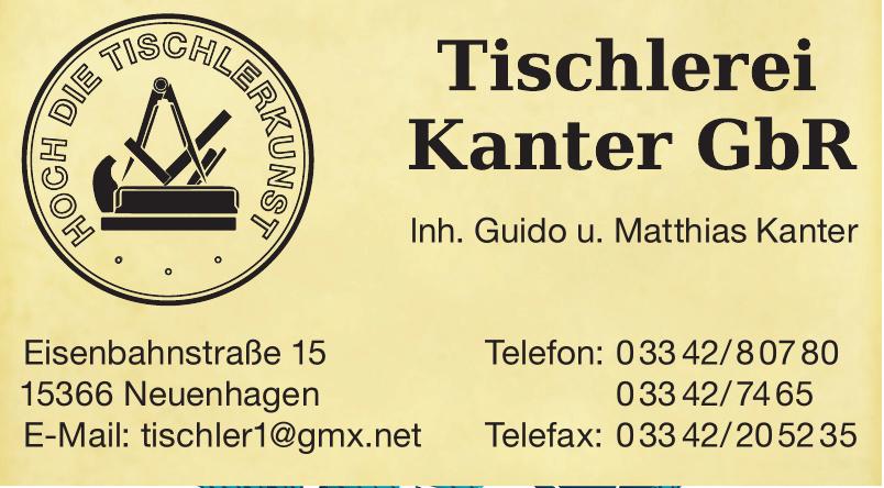Tischlerei Kanter GbR