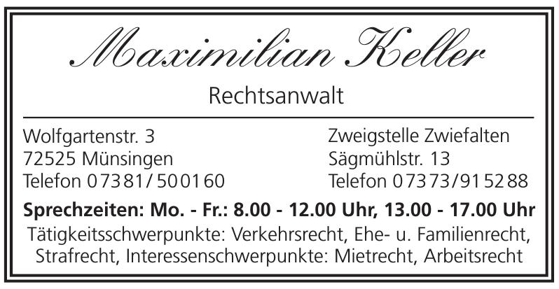 Maximilian Keller Rechtsanwalt