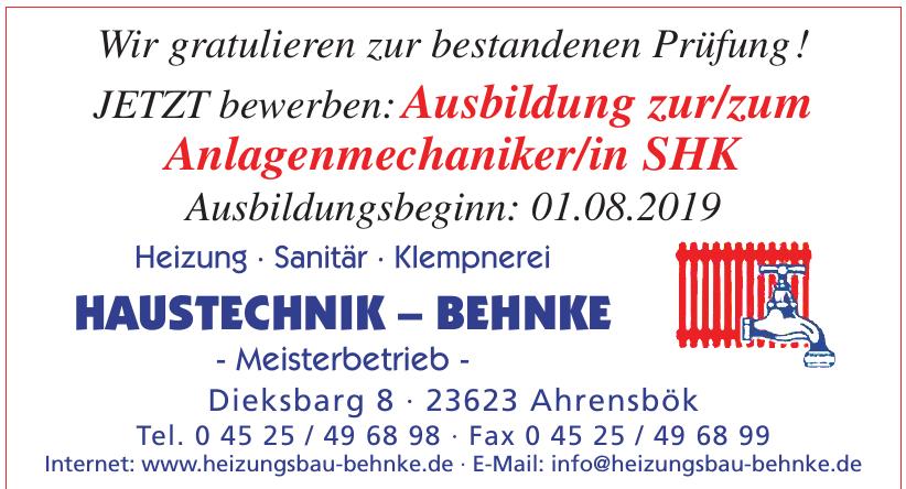 Haustechnik – Behnke