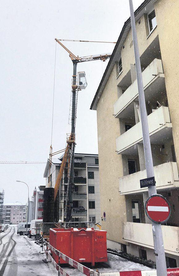 Baustelleninstallation, Umbau Mühleweg 9, Kriens
