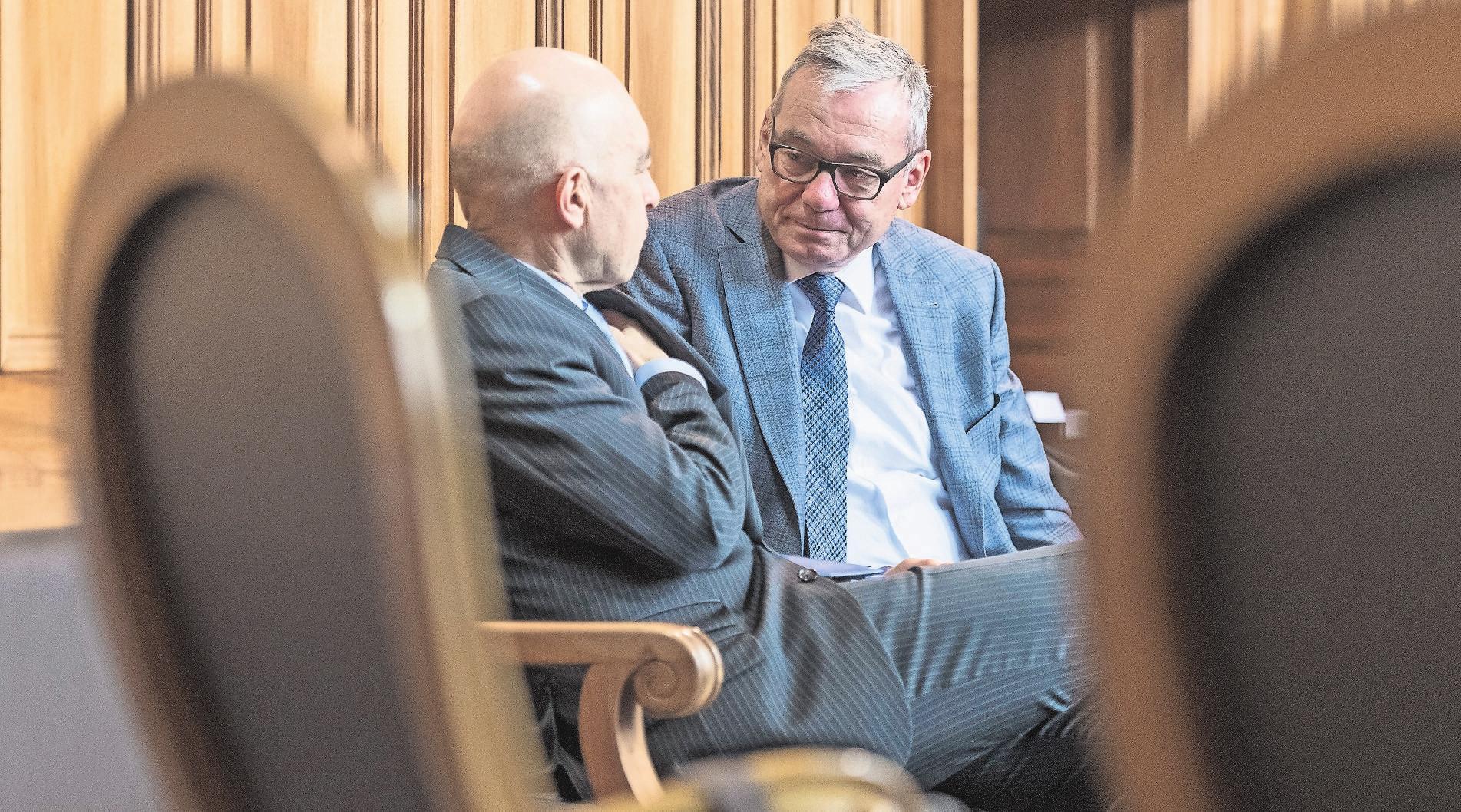 Der Wahlkampf wird kein Spaziergang: Die Ständeräte Daniel Jositsch (SP) und Ruedi Noser (FDP) haben starke Konkurrenz. Bild: Alessandro della Valle/Key (Bern, 28. November 2018)