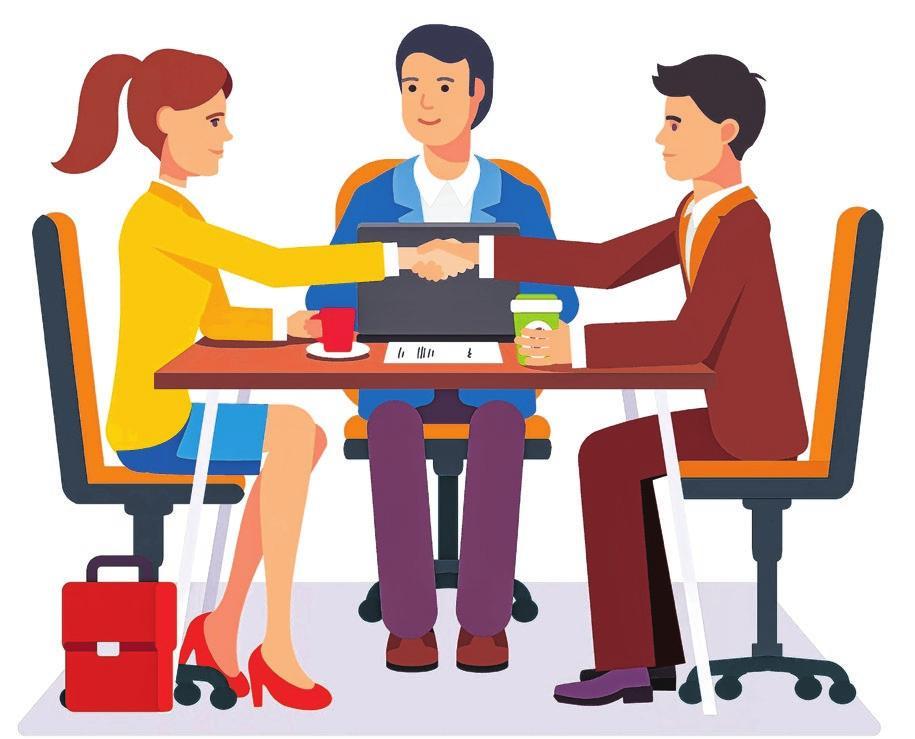 Schon vor dem Bewerbungsgespräch sollte man sich eingehend übers Unternehmen informiert haben, um sicher zu gehen, dass der zukünftige Arbeitgeber auch zu einem passt. Foto: Iconic Bestiary/Shutterstock.com