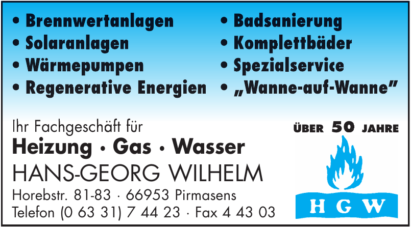 HGW Hans-Georg Wilhelm GmbH