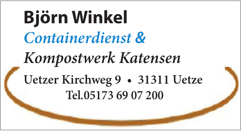 Björn Winkel Containerdienst & Kompostwerk Katensen