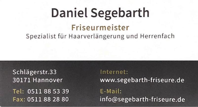 Daniel Segebarth Friseurmeister