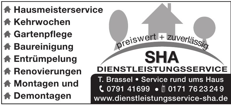 SHA dienstleistungsservice