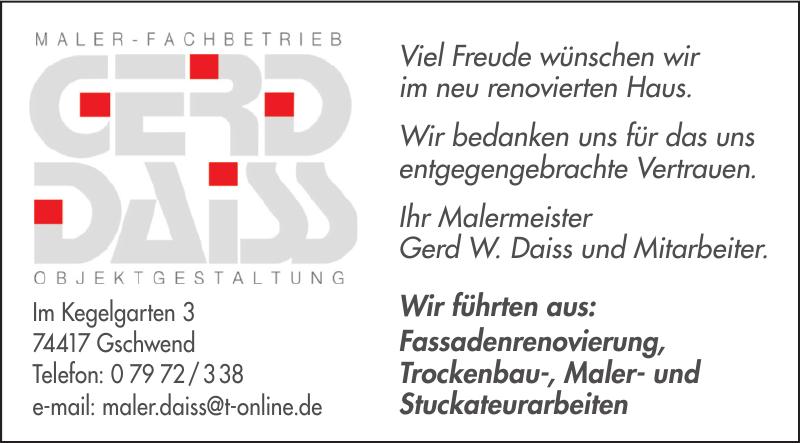 Maler-Fachbetrieb Gerddaiss Objektgestaitung