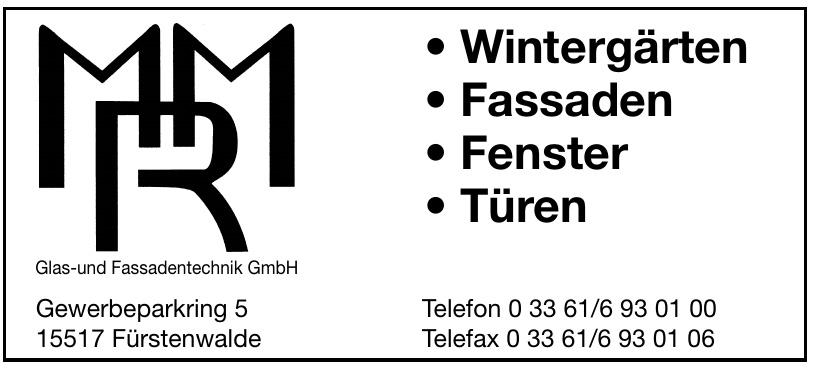 MRM Glas- und Fassadentechnik GmbH