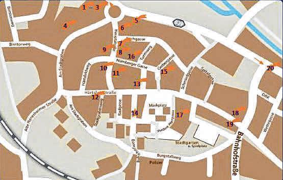 Auf diesem Stadtplan ist der Krippenweg gekennzeichnet. Fotos: Archiv/GHV Bopfingen