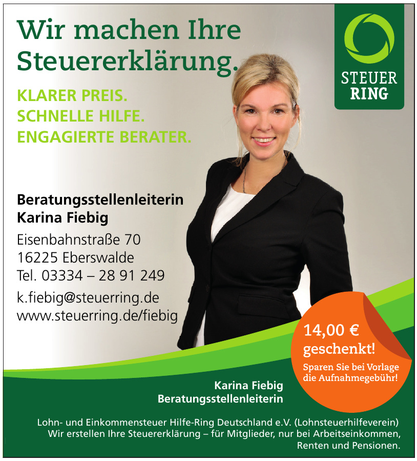 Steuerring Beratungsstellenleiterin Karina Fiebig