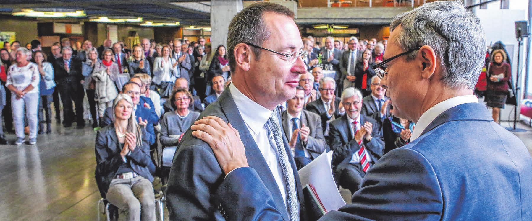 2021: OB Thilo Rentschler feiert seinen 50. Geburtstag. FOTO: SIEDLER