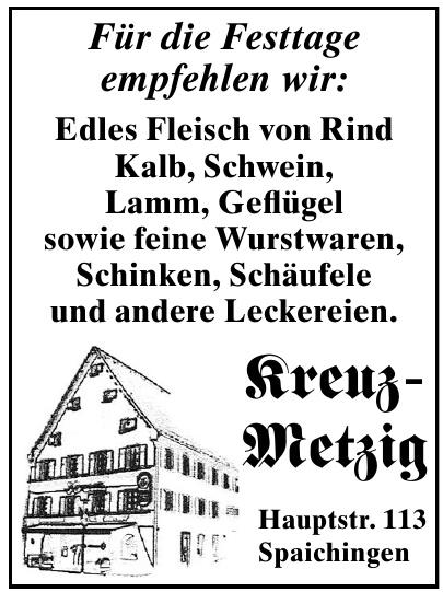 Kreuz-Metzig