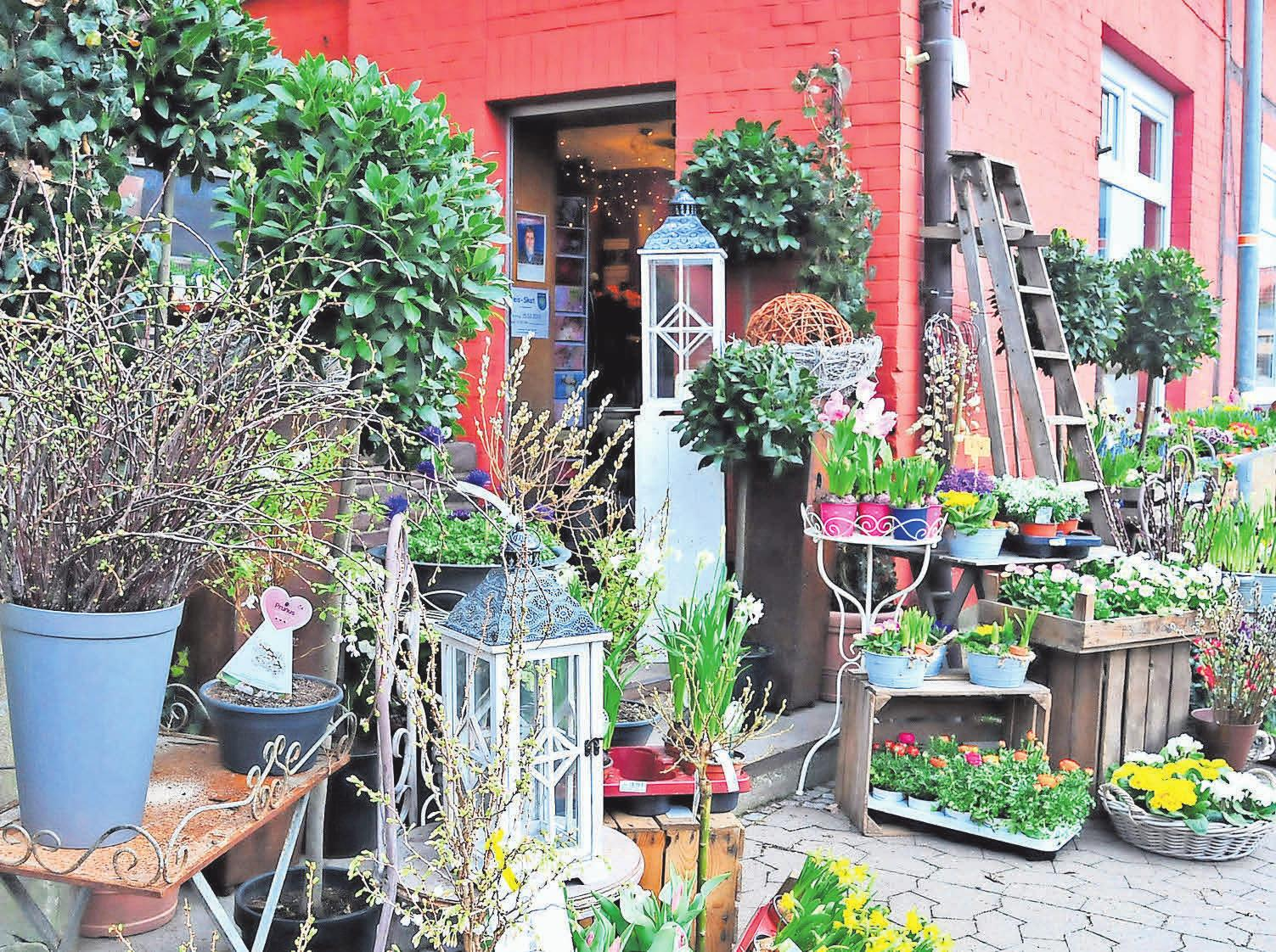 Der Blumenladen an der Ippenstedter Straße 18 in Jeinsen besteht bereits seit zehn Jahren.