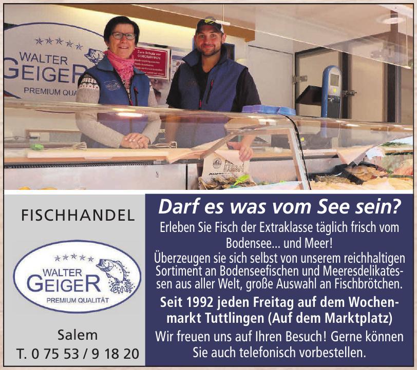 Fischhandel - Walter Geiger