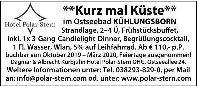 Dagmar & Albrecht Kurbjuhn - Hotel Polar-Stern OHG