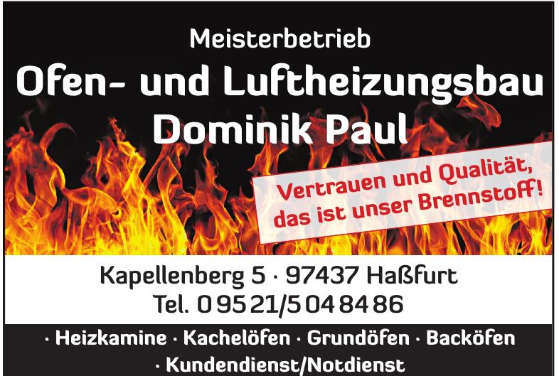 Meisterbetrieb Ofen- und Luftheizungsbau Dominik Paul
