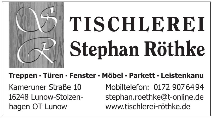 Tischlerei stephan Röthke