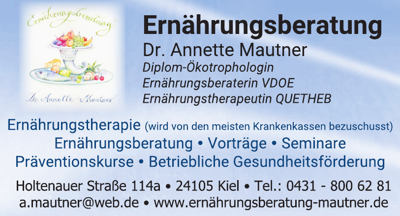 Ernährungsberatung Dr. Annette Mautner