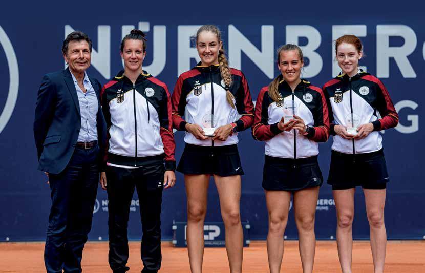 Internationaler Einsatz für Ella Seidel (r) beim WTA Turnier in Nürnberg. Foto: JNürnberger Versicherungscup/Getty