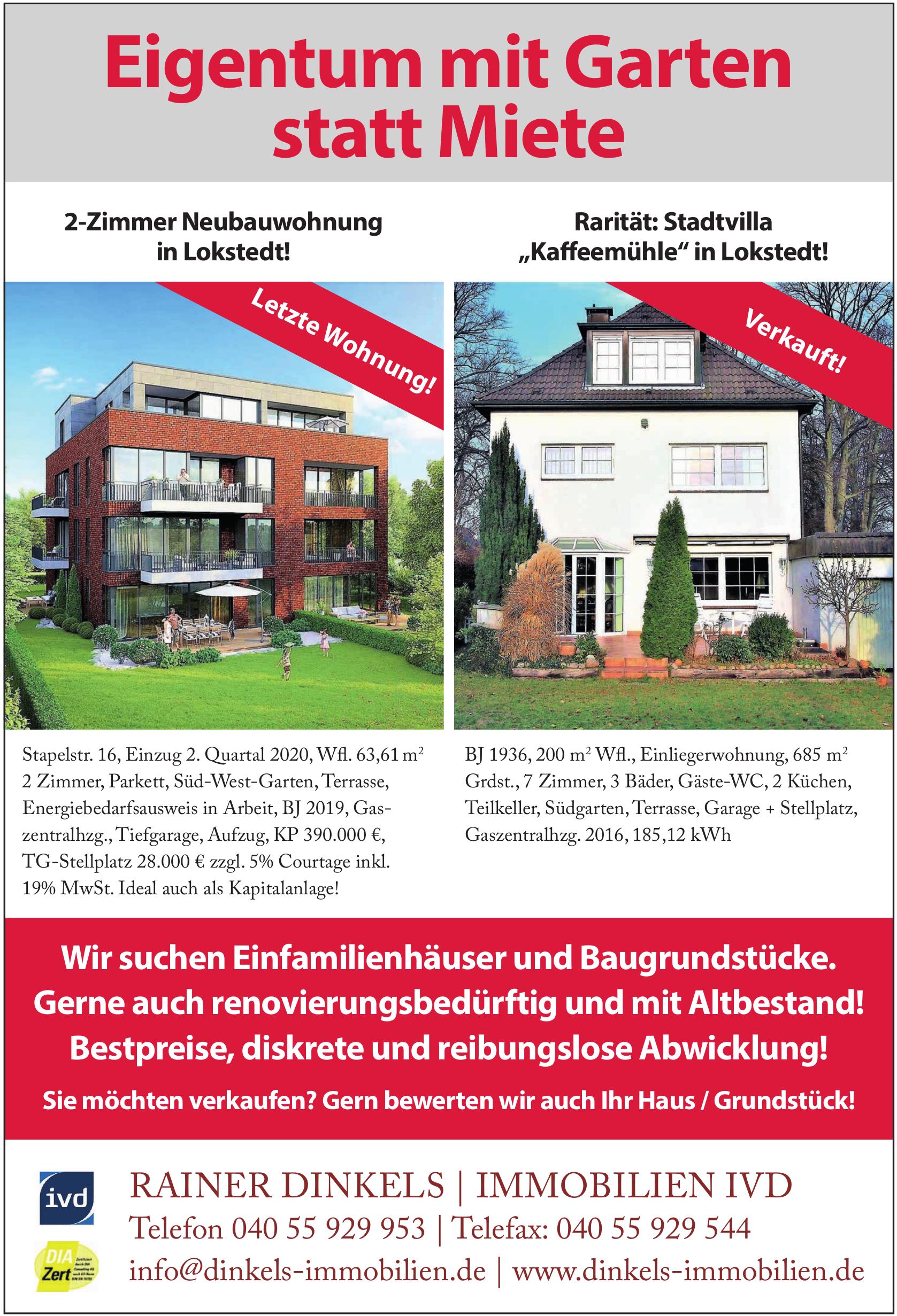 Rainer Dinkels - Immobilien IVD