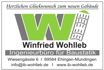 Winfried Wohlleb Ingenieurbüro für Baustatik