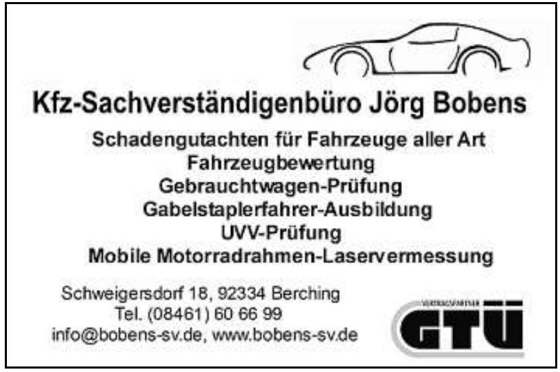 Jörg Bobens Kfz-Sachverständigenbüro