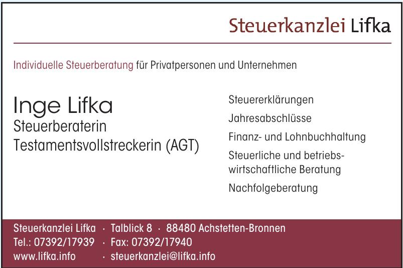 Steuerkanzlei Lifka - Inge Lifka Steuerberaterin