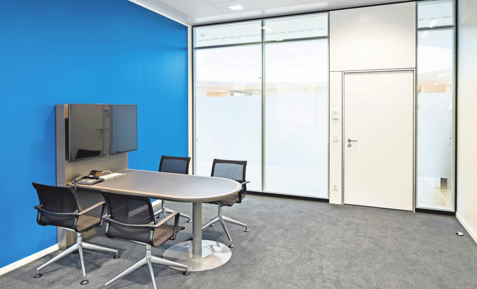 Moderne Büros sorgen für eine freundliche Atmosphäre.